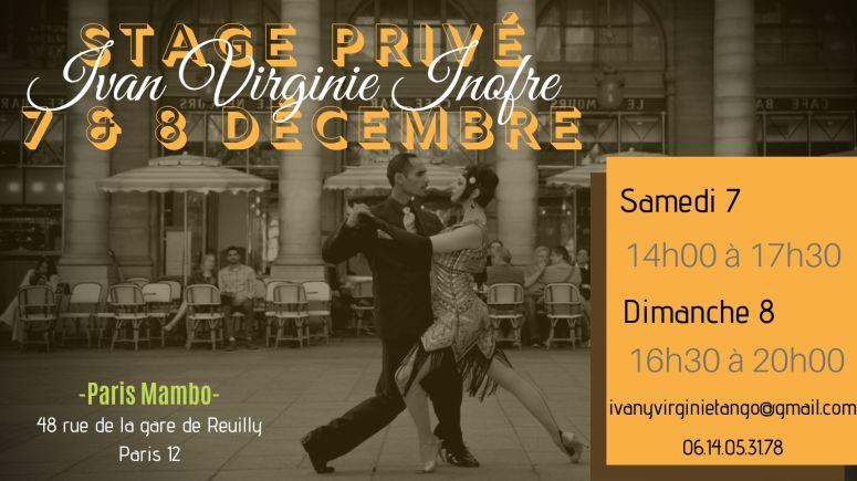 Stage Privé 7 & 8 Décembre